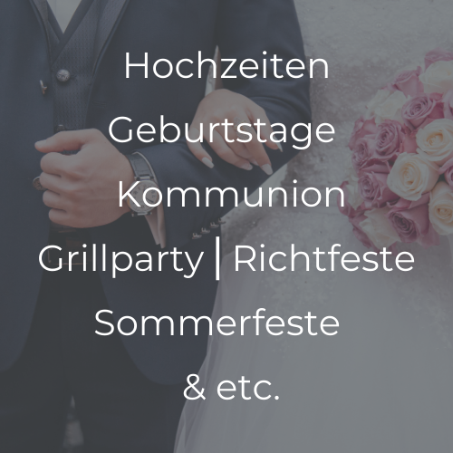 Übersicht Private Catering Angebote